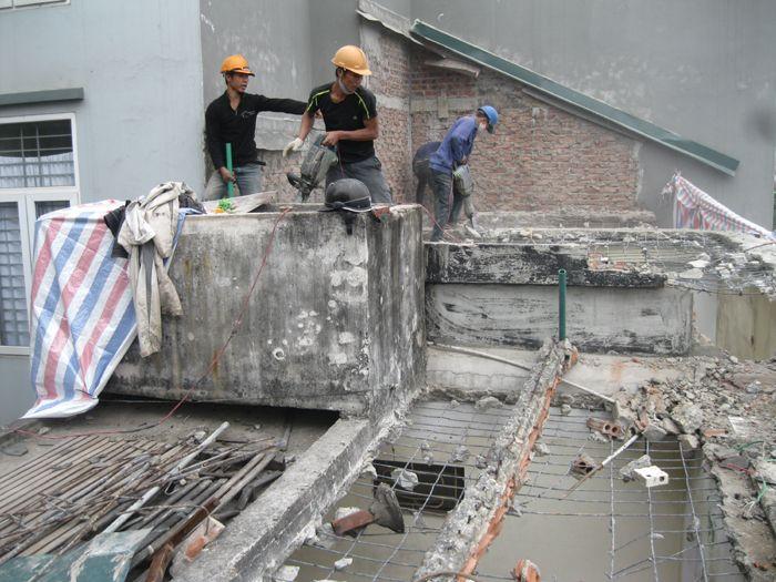Báo giá chi phí tháo dỡ nhà cũ, tháo dỡ công trình Hà Nội