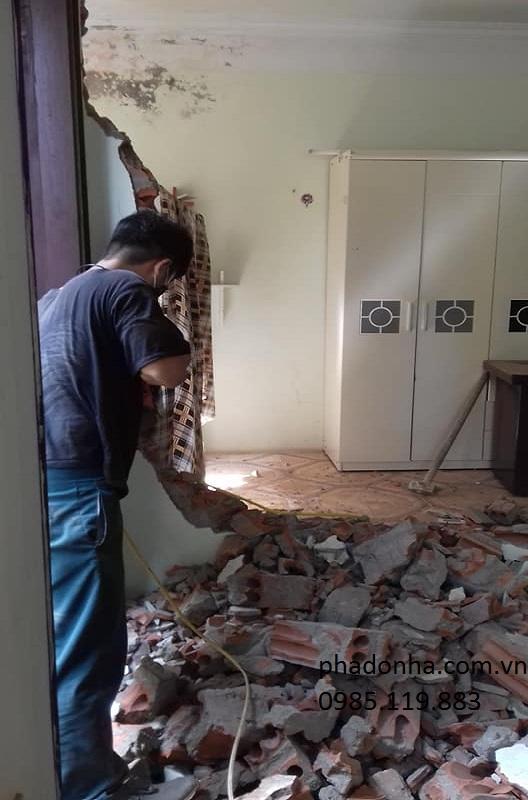 Phá dỡ công trình trọn gói tại Hà Nội và những điều bạn cần biết. 0985.119.883