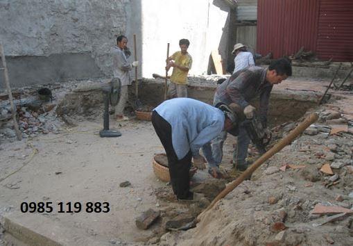 Công việc cần làm khi thực hiện đào móng nhà