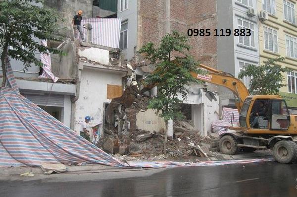 Hình thức thi công phá dỡ nhà của Hoan Hoa