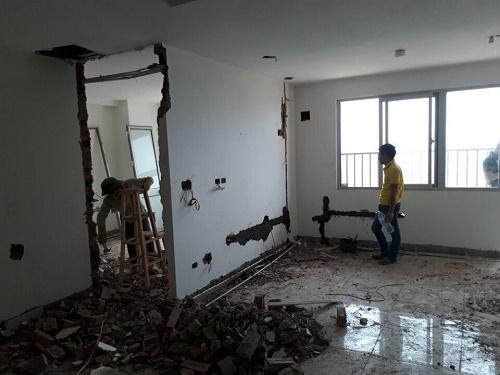 đơn giá phá dỡ tường xây tại Hà Nội