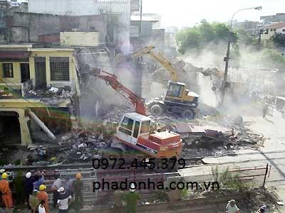 Phá dỡ công trình, phá dỡ nhà chuyên nghiệp giá rẻ Hà Nội