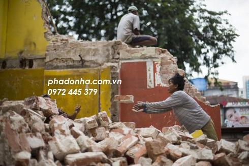 Đơn giá đập phá tường gạch | đơn giá phá dỡ tường gạch
