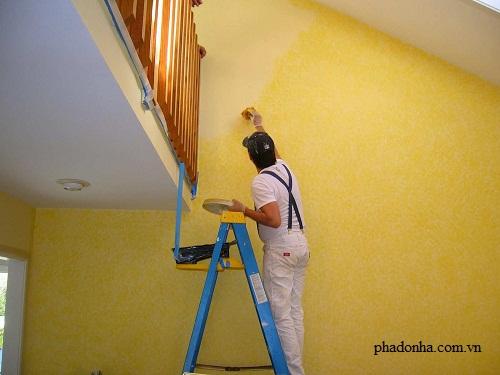 Hướng dẫn quét vôi ve trong quá trình sửa chữa nhà