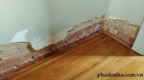 Kinh nghiệm xử lý ẩm mốc chân tường hiệu quả khi sửa chữa nhà