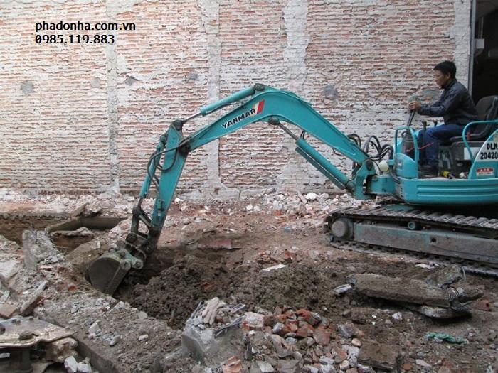 Dịch vụ đào móng nhà uy tín tại Cầu Giấy